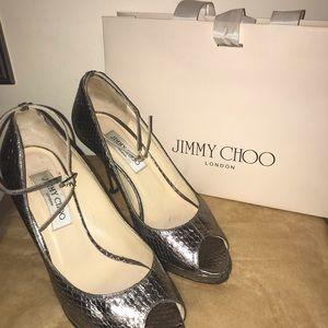 💯% Authentic Jimmy Choo Peep Toe Ankle Pumps
